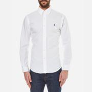 Polo Ralph Lauren Mens Slim Fit Long Sleeve Shirt  White  XL