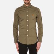 Polo Ralph Lauren Mens Long Sleeve Slim Shirt  Olive  M