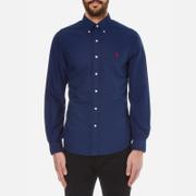 Polo Ralph Lauren Mens Slim Fit Long Sleeve Shirt  Holiday Navy  XXL
