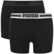 Puma Men's 2-Pack Placed Logo Boxers - Black - S - Schwarz