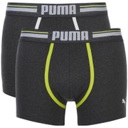 Lot de 2 Boxers Athletic Blocking Puma -Charbon/Gris