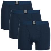 Crosshatch Herren 3 Pack Triplet Boxers - Insignia Blue