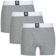Crosshatch Men's 3 Pack Triplet Boxers - Grey