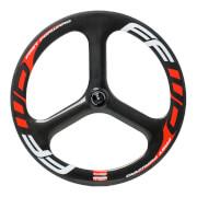 FFWD Fast Forward 3 Spoke TT/Tri Tubular Front Wheel - Red