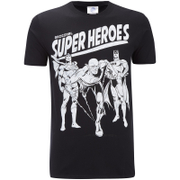 DC Comics Mens Original Superheroes T-Shirt - Zwart