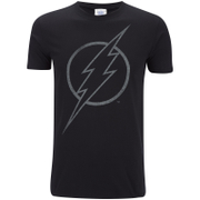 DC Comics Herren The Flash Line Logo T-Shirt - Schwarz