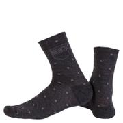 Nalini Wool Pois Socks - Black/White - S-M - Black/White