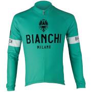 Bianchi Leggenda Long Sleeve Jersey - L - Green