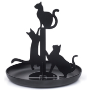 Black Cat Jewellery Stand