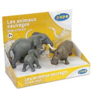 Papo Wild Animal Kingdom: Display Box Wild Animals 3 (3 Figurines)