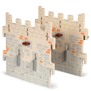Papo Medieval Era: Weapon Master Castle   2 Medium Walls (Set 5)