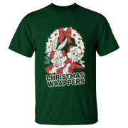 Warner Brothers Men's Bugs Bunny Christmas T-Shirt - Green