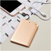 Credit Card Power Bank 2000 MAH - Copper