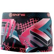Skins DNAmic Women's Booty Shorts - Junkyard Geo - M - Pink/Black