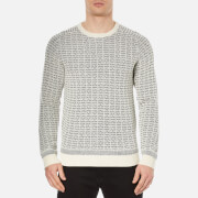 Selected Homme Men's Pattern Crew Neck Sweatshirt - Papyrus