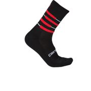 Castelli Incendio 15 Cycling Socks - Black/Red