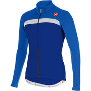 Castelli Criterium Long Sleeve Jersey - Blue/White
