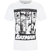 DC Comics Mens Batman I am Batman T-Shirt - White - L - White