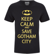 DC Comics Batman Keep Calm Heren T-Shirt - Zwart