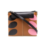 Orla Kiely Women's Stem Print Leather Bucket Bag - Hazel