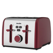 Breville VTT628 Colour Notes 4 Slice Toaster - Red
