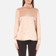 Gestuz Women's Lullu Silk Rollneck Top - Maple Sugar