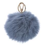 Furla Women's Bubble Fur Pom Pom Keyring - Dolomia