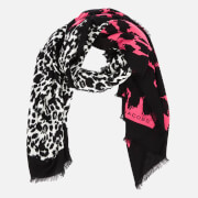 Marc Jacobs Women's Dotted Leopard Stole Scarf - Bright Pink