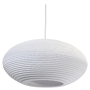 Graypants Disc Pendant  16 Inch  White