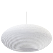 Graypants Disc Pendant  24 Inch  White