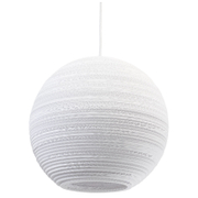 Graypants Moon Pendant  14 Inch  White