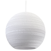 Graypants Moon Pendant  18 Inch  White