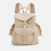 Grafea Women's Medium Leather Rucksack - Sand