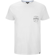 T-Shirt Homme Crafted Back Animal -Blanc