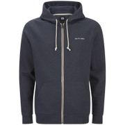 Animal Men's Bedrock Zip Through Hoody - Total Eclipse Navy Marl