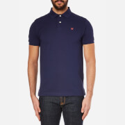 Hackett London Men's Tailored Logo Polo Shirt - Navy/Red