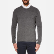 Hackett London Men's Lambswool Crew Neck Knitted Jumper - Grey Melange - L