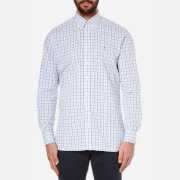 Hackett London Men's Hunters Gingham Long Sleeve Shirt - Navy/Blue