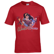 T-Shirt Homme DC Comics Logo Bombshell Wonder Woman - Rouge