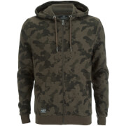Threadbare Men's Felton Camo Crew Hoody - Khaki