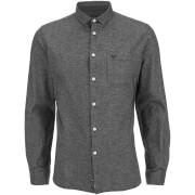 Threadbare Men's Harrison Long Sleeve Shirt - Charcoal