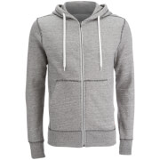 Jack & Jones Men's Originals Storm Zip Through Hoody - Light Grey Marl