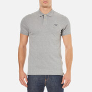 GANT Men's Contrast Collar Polo Shirt - Grey Melange