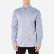 GANT Men's Plain Oxford Long Sleeve Shirt - Indigo Blue