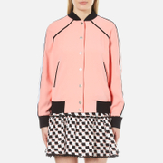 KENZO Womens Crepe Back Satin Bomber Jacket  Flamingo Pink  XS