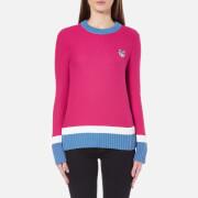 KENZO Women's Tiger Crest Cotton Knitted Jumper - Deep Fuschia