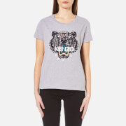 KENZO Womens Snake X Tiger Embroidery TShirt  Grey  XS