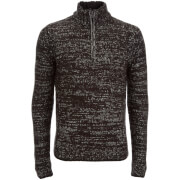 Pull Kensington Eastside pour Homme Stepan Half Zip Twist -Noir