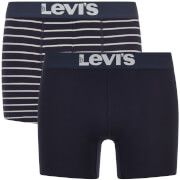 Levi's Men's 200SF 2-Pack Vintage Stripe Boxers - Mid Denim