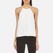 C/MEO COLLECTIVE Women's Faded Light Halter Top - Ivory